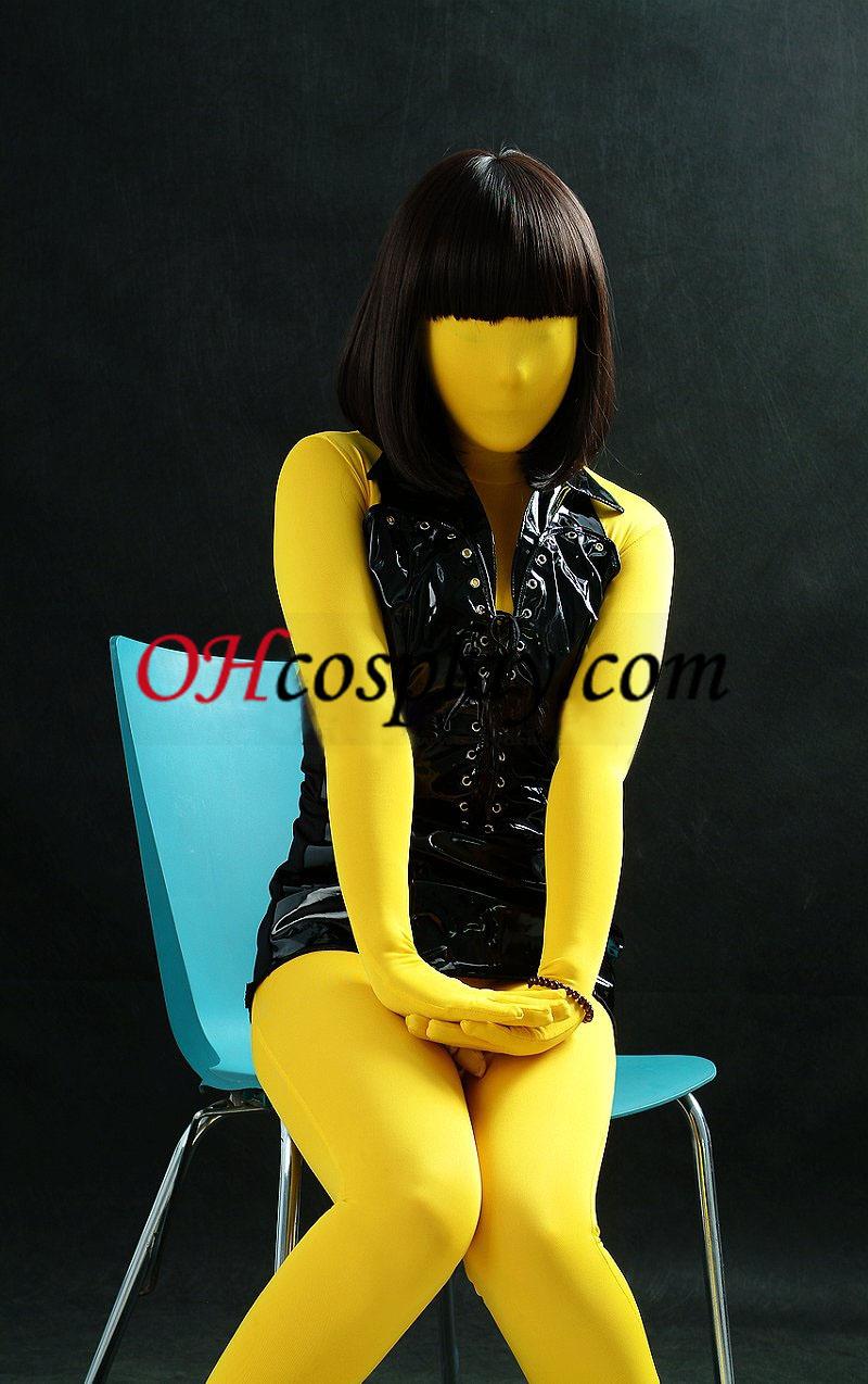 Amarelo Unissex Modal Zentai
