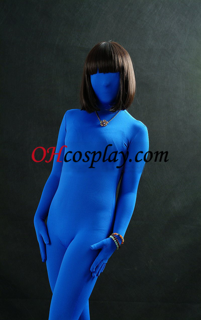 로얄 블루 남녀 공통 모양 Zentai는 벌