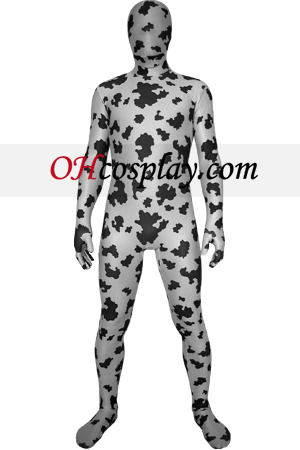 Black White zentai Digital Lycra Zentai Suit