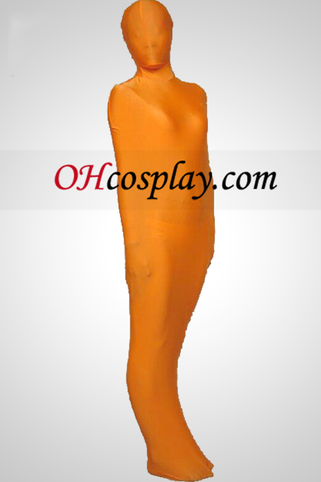 Orange Mummy Stil Lycra Zentai