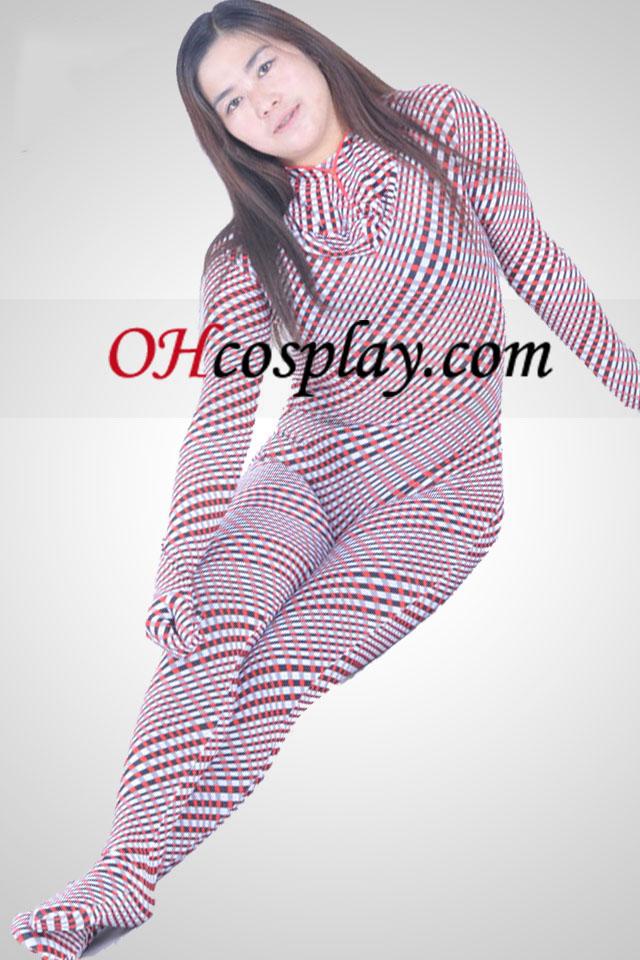 Многоцветен Lycra Spandex Унисекс Зентай Suit