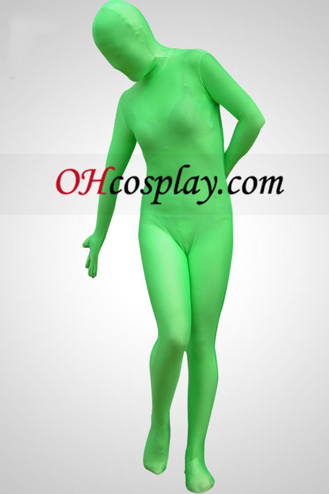 Grön Lycra Spandex Unisex Zentai Suit