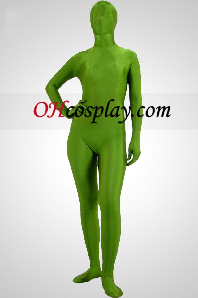 Светият Suit Green Lycra Spandex Унисекс Зентай