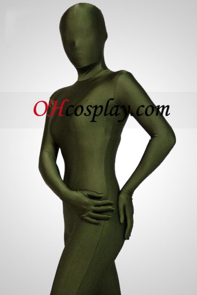 חליפת גוף מלא הלייקרה ספנדקס מערער ירוקה