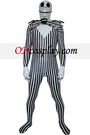 Nightmare Before Christmas Jack Skellington Zentai Obleky