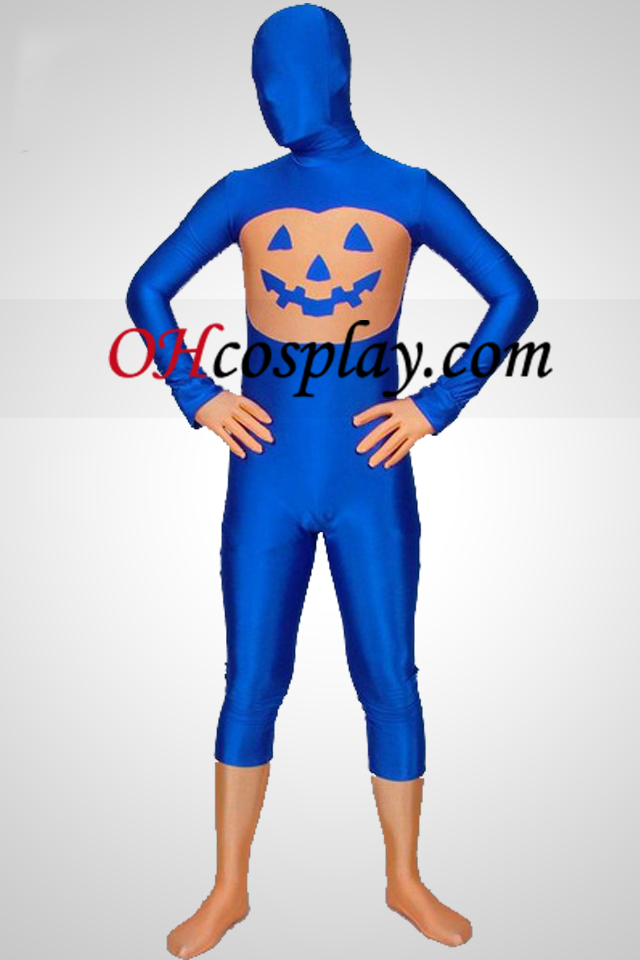 Blue Pumpkin Multi-colored Unisex Lycra Spandex Zentai Obleky