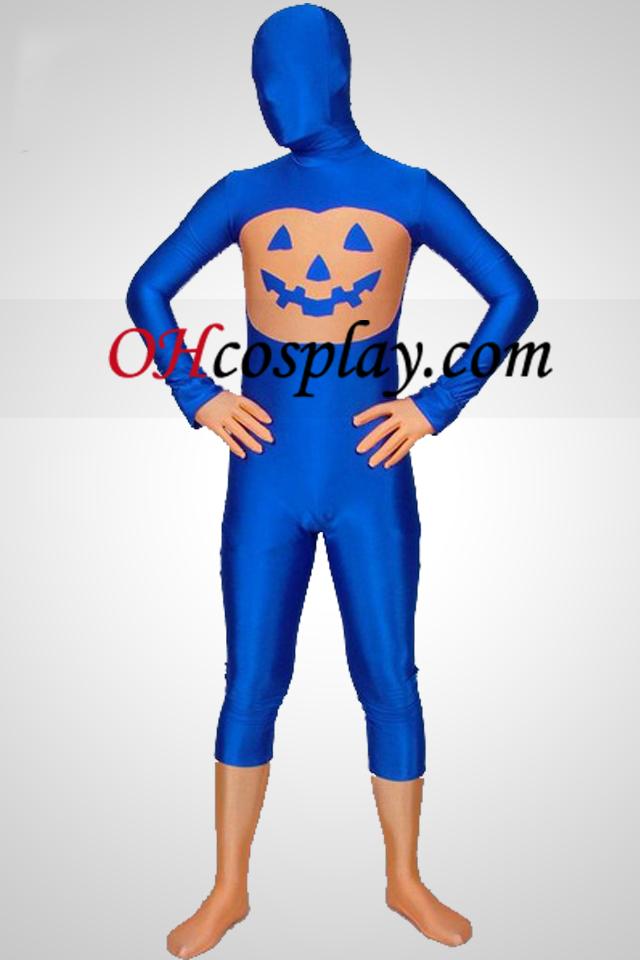 Blue Pumpkin Multi-Colored Unisex Lycra Spandex Zentai Suit