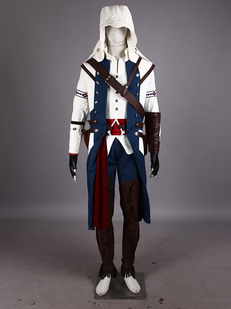Assassin's Creed III Connor Kenway Costumes - Cosplay Deluxe White