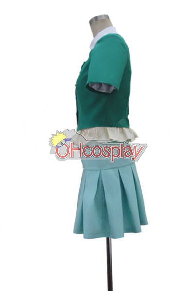 Mirai Nikki (Future Дневник костюми) Yuno Gasai Green Dress Cosplay костюми