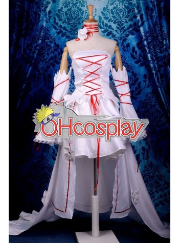 Pandora Hearts Costumes White Rabbit Alice Deluxe Cosplay Costume