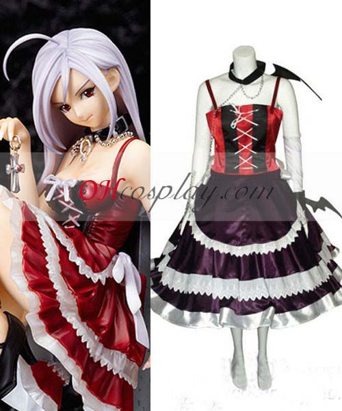 Rosario + Vampire Cosplay Moka Vampire Dress Cosplay Costume