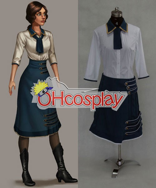BioShock 3 Infinite Elizabeth Green Dress Cosplay Kostuums