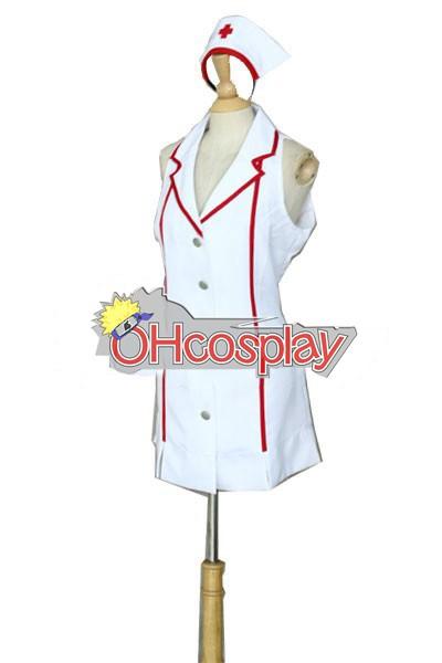 Лигата на Легенди костюми Nurse Akali Cosplay костюми