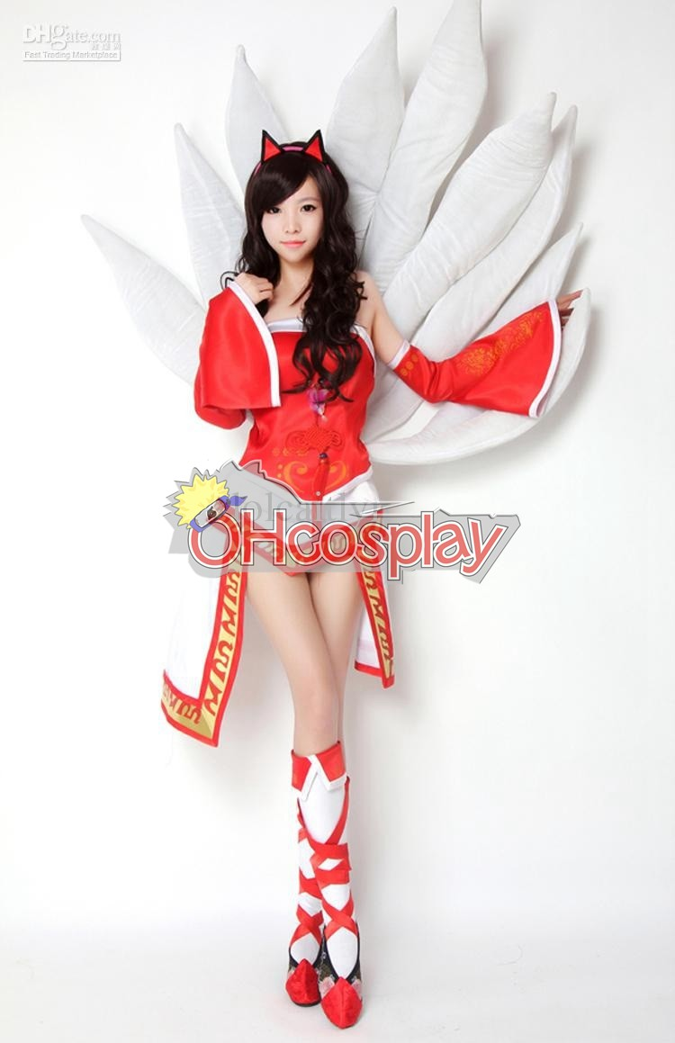 Costumi Carnevale League of Legends Ahri Cosplay Costume