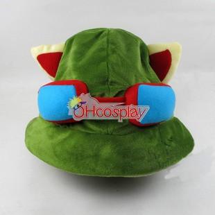 Лигата на Легенди костюми Swift Scout Teemo Cosplay Hat