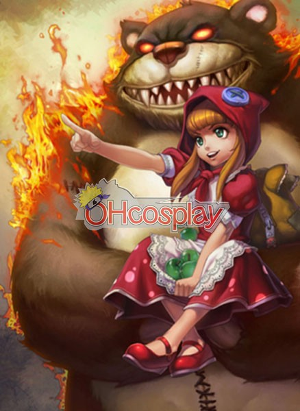 Disfraces League of Legends Annie Red Riding traje de Cosplay de la piel