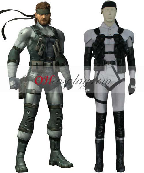 Metal Gear Solid Costume 2 Solid Snake Cosplay Costume