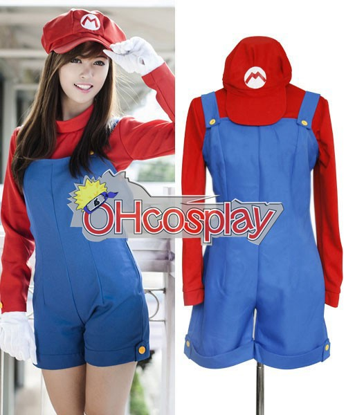 Super Mario Costumes Bros Female Mario Cosplay Costume