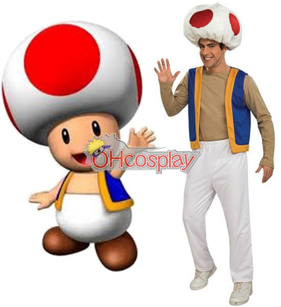 Super Mario Kostymer Bros Adult Toad Cosplay Kostymer