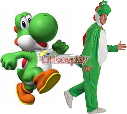 Costumi Carnevale Super Mario Bros Yoshi Adult Cosplay Costume