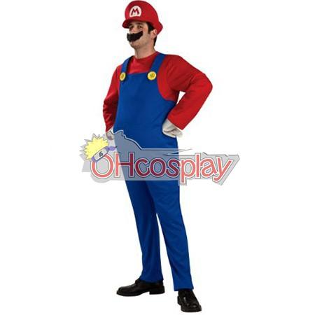 Super Mario Bros Mario Възрастен костюми Cosplay костюми