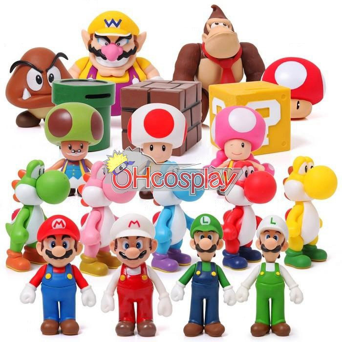 Super Mario Kostymer Bros Mario Model Doll