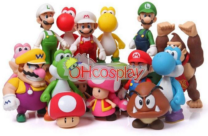 Super Mario Bros Mario костюми Модел Doll