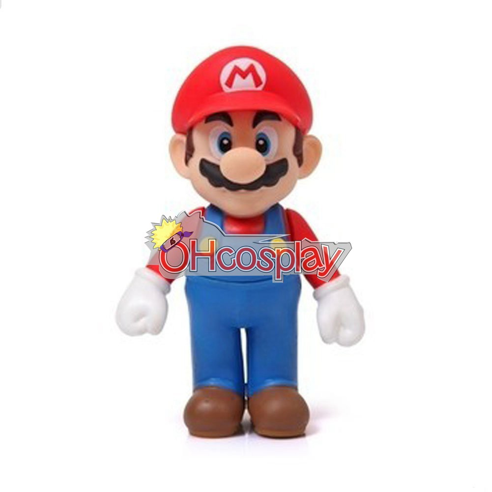 Super Mario Kostymer Bros Red Mario Model Doll
