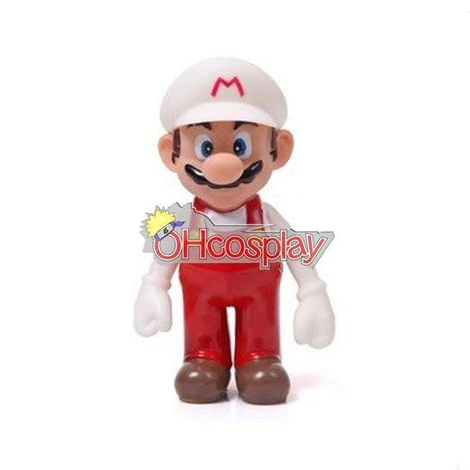 Super Mario Karneval Kläder Bros White Mario Model Doll
