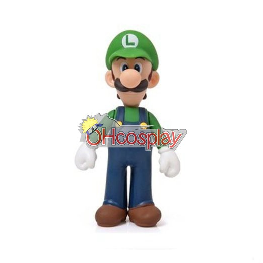 Super Mario Karneval Kläder Bros Green Louis Model Doll