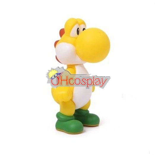 Super Mario Kostymer Bros Yellow Dinosaur Model Doll