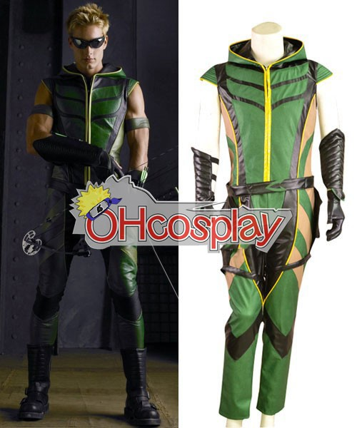 Green Arrow Leather Cosplay Karneval Kläder