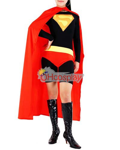 DC Superwoman Negro Traje Cosplay