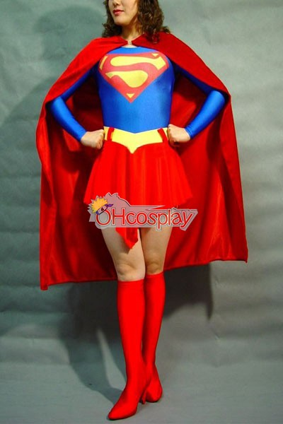 DC Superwoman Classic Red Cosplay Kostymer