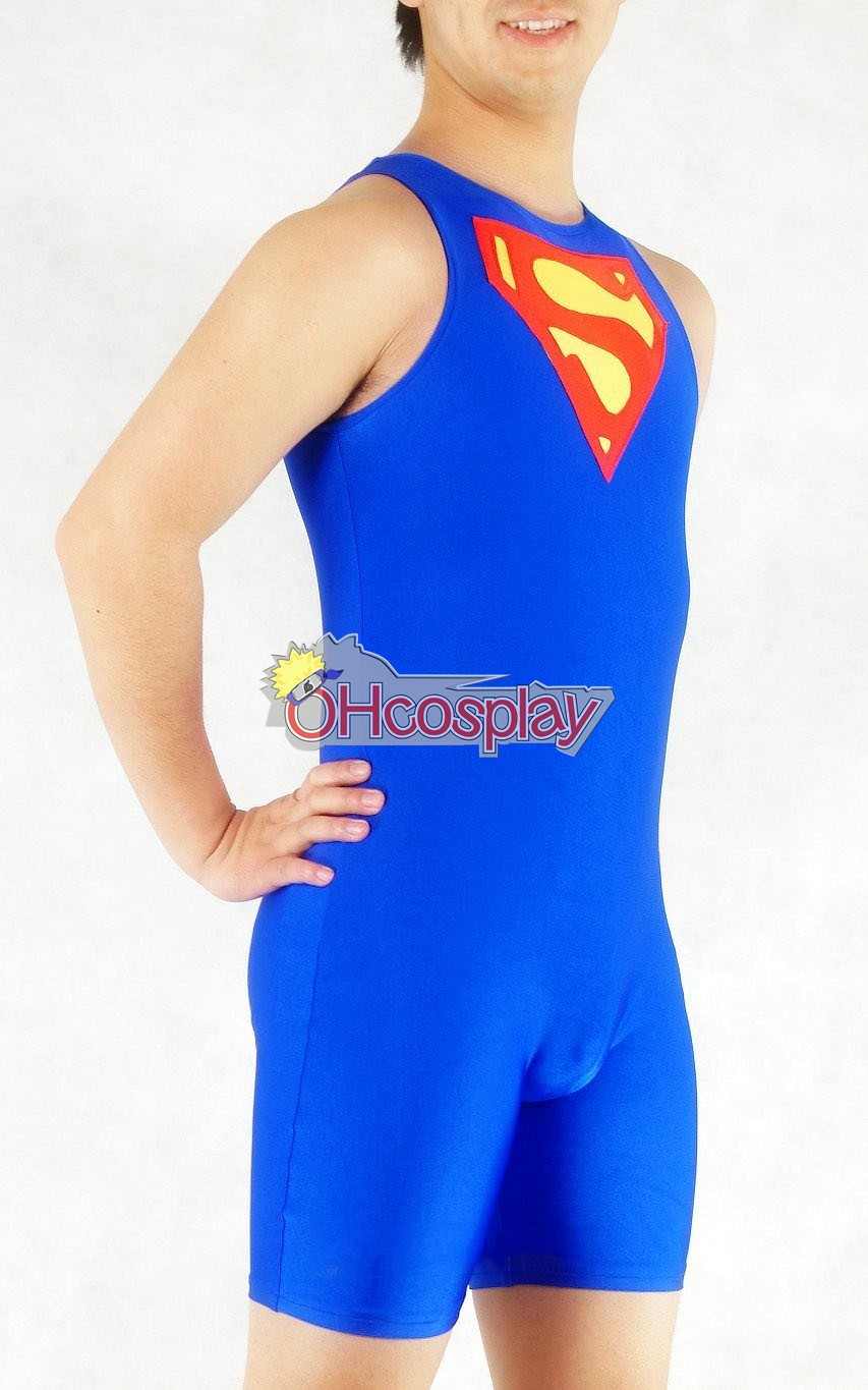 DC Superman Exercise Suit Cosplay Costume