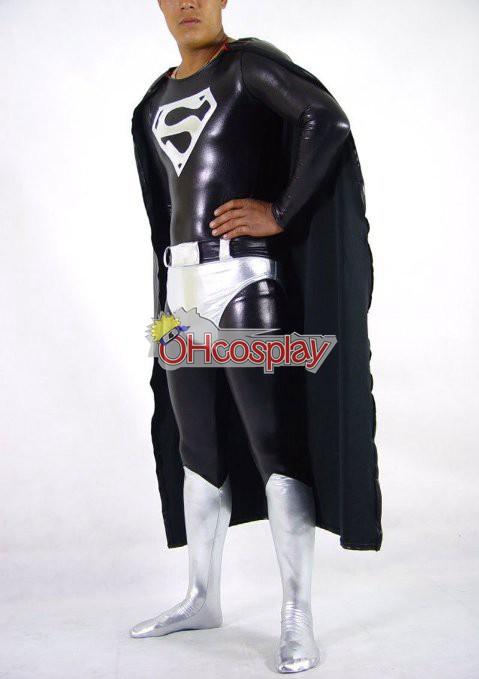DC Супермен Черно Cosplay костюми