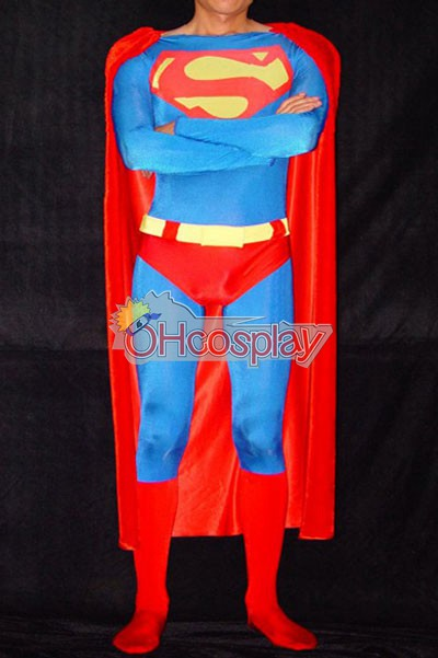 DC Superman Classic Shiny Red Cosplay Jelmez
