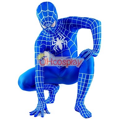 Disfraces Marvel Spiderman Azul Traje Cosplay