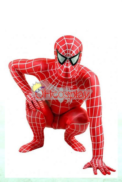 Marvel Kostymer Spiderman Red Suit Cosplay Kostymer