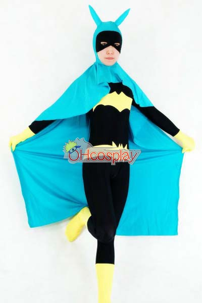DC Batgirl Casual Wear( Cloak Included) Cosplay Karneval Kläder