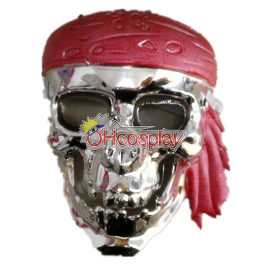 Pirates Of The Caribbean Cosplay Kostüme Maske silbrig