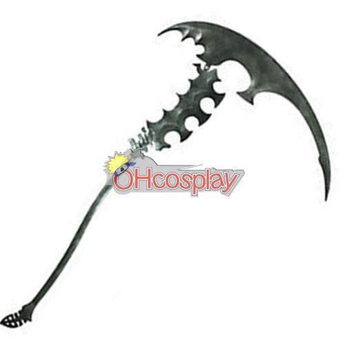 Black Rock Shooter Мъртво магистър Мъртво Scythe Cosplay Weapon