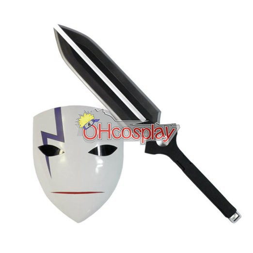 Darker than Black Karneval Kläder Laugh Mask & Sword Cosplay Set (Deluxe Edition)