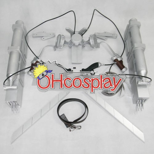Attack on Titan Costume Cosplay 3-D Maneuver Gear New Version