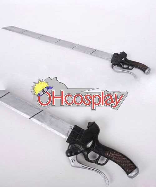 Attack on Titan Cosplay Training Corps Eren Jaeger Double Sword (Quantity 2)