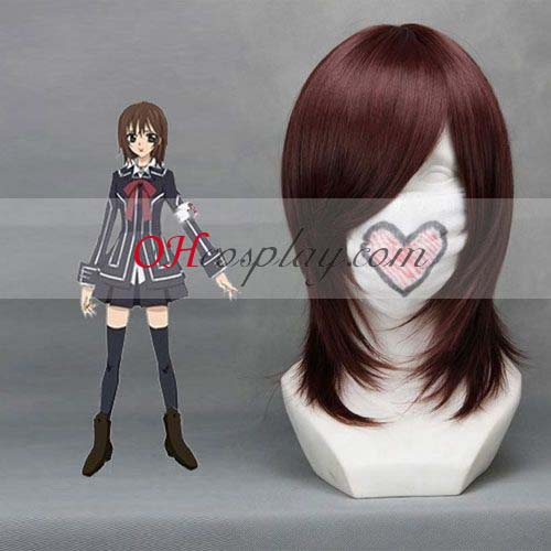 Vampire Knight Fastelavn Kostumer Kuran Yuuki Wine Red udklædning Wig-008C