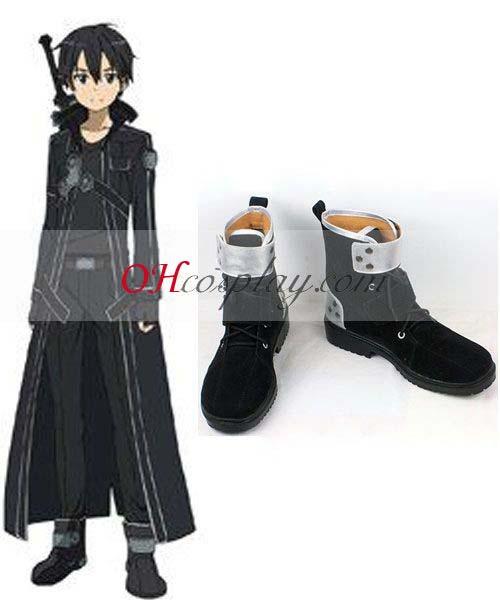Sword Art Онлайн костюми Kirito Dull полските Cosplay Обувки