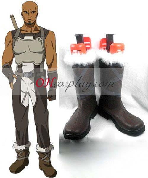 Sword Art Онлайн костюми Agil Green Cosplay Обувки