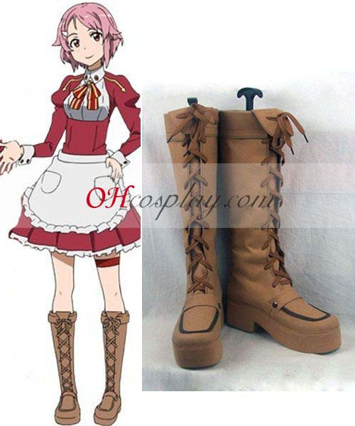 Sword Art Online Puku Lisbeth (Rika Shinozak) Cosplay Saappaat