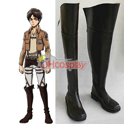 Attack on Titan Costume Eren Jaeger Cosplay Shoes